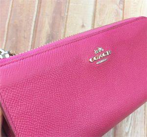 ピンクのコーチ財布の染色アフター